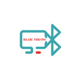 Bluetooth icon vector ilustration. Royalty Free Stock Photos