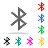 Bluetooth-Ikone Zeichendesign Elemente in den multi farbigen Ikonen für bewegliche Konzept und Netz apps Ikonen für Websitedesign lizenzfreie abbildung