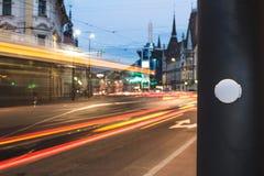 Bluetooth Niskiej energii bakanu †'lokaci inteligenci czujnik w mądrze miastach Zdjęcie Royalty Free