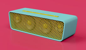 Bluetooth speaker. On red background Stock Photography