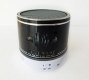Bluetooth speaker on white background. Audio black connect control input radio sound music volume system electronic band design studio object technology Royalty Free Stock Photography