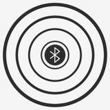 Bluetooth Vector Icon. Bluetooth area  icon. Isolated on white background. Flat illustration Stock Photos