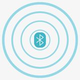 Bluetooth Vector Icon Royalty Free Stock Image