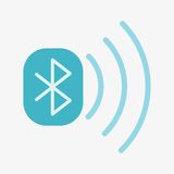 Bluetooth Vector Icon. Bluetooth data sharing  icon. Isolated on white background. Flat illustration Stock Images