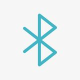 Bluetooth Vector Icon Royalty Free Stock Photo