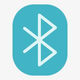 Bluetooth Vector Icon Stock Images