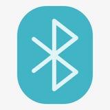 Bluetooth vektorsymbol Arkivbilder