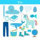 bluets Выучите цвет Комплект образования Иллюстрация основного co Стоковые Фотографии RF