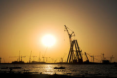 Bluewaters island construction in Dubai Royalty Free Stock Photography