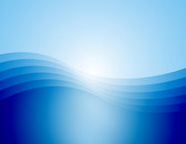BlueWaves(X5C). Computer generated background of a graceful wave in varying shades of blue Stock Illustration