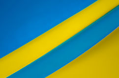 Blueyellow Paper. Blue and yellow colored paper royalty free stock photos