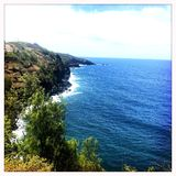 Bluff alla costa in Wailuku Maui Fotografia Stock Libera da Diritti