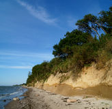 Bluff at the Baltic sea. Landscape at the Baltic Sea with a steep bank Royalty Free Stock Image