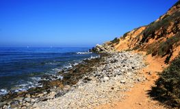 Bluff Cove Trail. Trail along the ocean, Bluff Cove, CA Royalty Free Stock Photo
