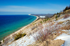 Bluff d'empire, dunes d'ours de sommeil, Michigan Etats-Unis Photos libres de droits
