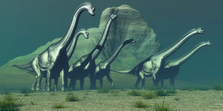 Bluff de Brachiosaurus Photo stock