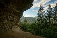 Bluff della caverna dell'allume Fotografia Stock