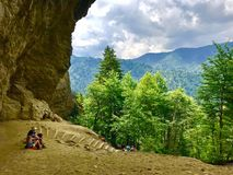 Bluff della caverna dell'allume Fotografie Stock Libere da Diritti