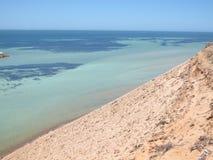 Bluff di Eagle, baia dello squalo, Australia occidentale Fotografia Stock