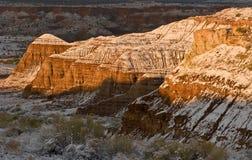 Bluff di Escalante di inverno Fotografie Stock