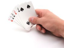 Bluff hand stock photos