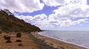 Bluff rosso alla scimmia Mia Shark Bay Fotografia Stock Libera da Diritti