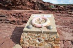 Bluff rouge : Mémorial de balise Photographie stock libre de droits