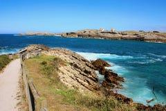 Bluff in Spain. Atlantic ocean`s bluff in Spain ,Soto de la Marina Royalty Free Stock Image