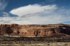 bluffar den canyonlandsmoab parken utah Royaltyfria Foton