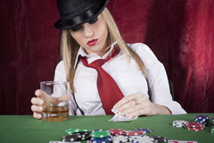 Bluffing Royalty Free Stock Image