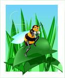 Bluffing bee vector illustration