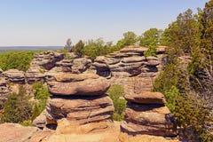 Bluffs de grès dans la région sauvage Images stock