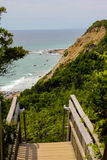 Bluffs de Mohegan, Île de Block, Île de Rhode Photo libre de droits