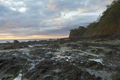 Bluffs on Playa Flamingo Royalty Free Stock Photos