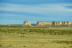 Bluffs in Wyoming. A picture of the bluffs near Chugwater Wyoming Royalty Free Stock Photography