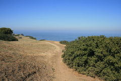 Blufftop Trail. Trail along the coastline at Bluff Cove, California Stock Images
