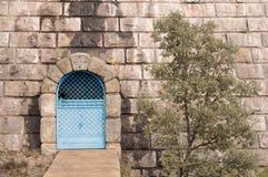 Bluie dörr Royaltyfri Bild