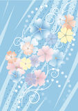 Bluish background with flowers..Background. Wallpa Royalty Free Stock Photo