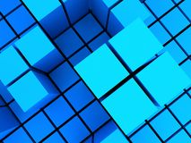 Bluish block structures Royalty Free Stock Photos