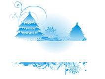 Bluish christmas backround Stock Photos