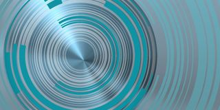 Bluish concentric circles over blue beam bright. Image of concentric circles as concept of energy movement and technology vector illustration