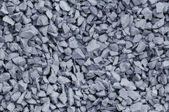 Bluish Gray gravel used for construction fill - seamless backgro Royalty Free Stock Photography