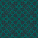 Bluish Green Colors Flower and Plant Pattern Design. Korean trad Royalty Free Stock Photos
