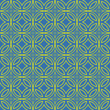 Bluish Green Colors Round grid Pattern. Korean traditional Patte Stock Images