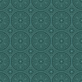 Bluish Green Colors Round grid Pattern. Korean traditional Patte Stock Photos