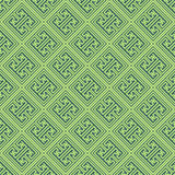 Bluish Green Colors Square grid Pattern design. Korean tradition Stock Photography