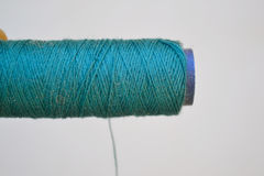 Bluish Green Thread Royalty Free Stock Images