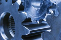 Bluish mechanical ideas Stock Image