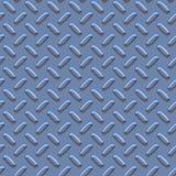 Bluish Metal Diamond Pattern Stock Image