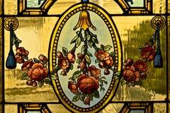 Blume auf dem Glas Stockfotografie